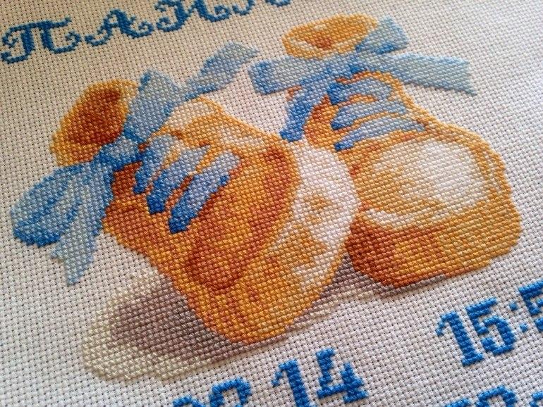 Вышивка крестиком пинетки 29