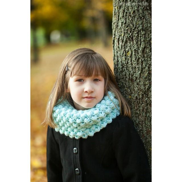 Вязание спицами детский снуд 84