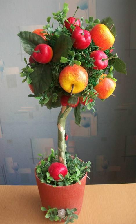 Яблочный топиарий своими руками. Мастер-класс 54