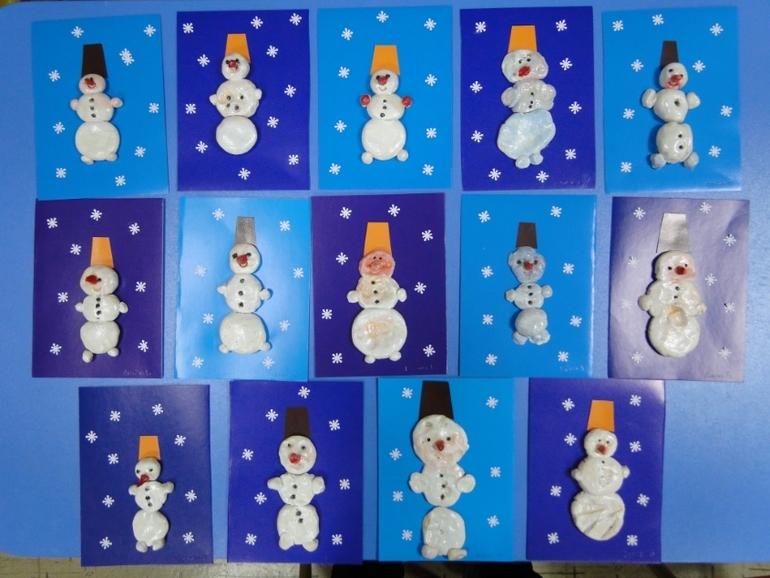 Поделки снеговика для малышей