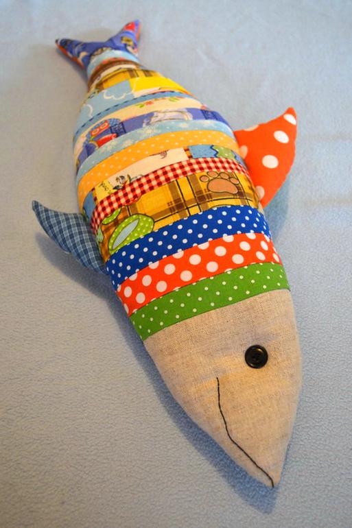 Подушка рыба своими руками выкройка