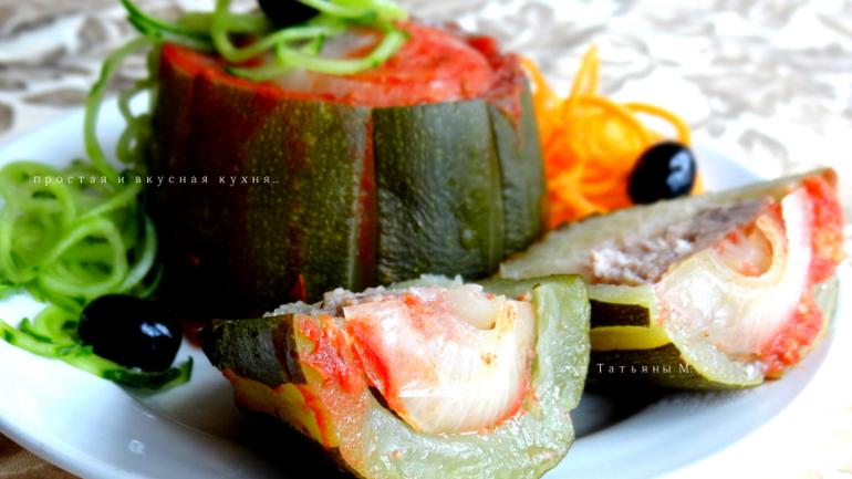 Рецепт кабачков томатном соке фото рецепт