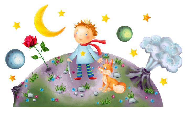 Виниловая наклейка - Маленький принц