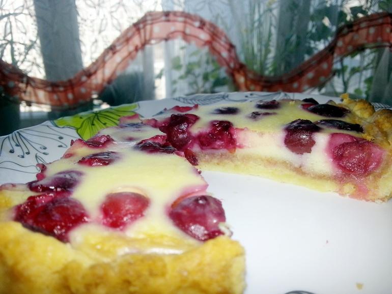 Рецепт пирога с вишней в сметанной заливке рецепт с