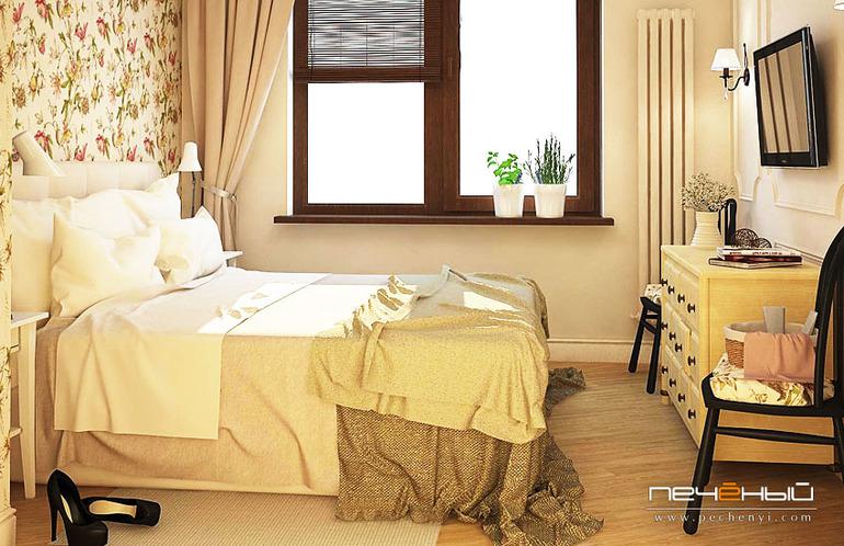 Дизайн гостиной с арочными окнами