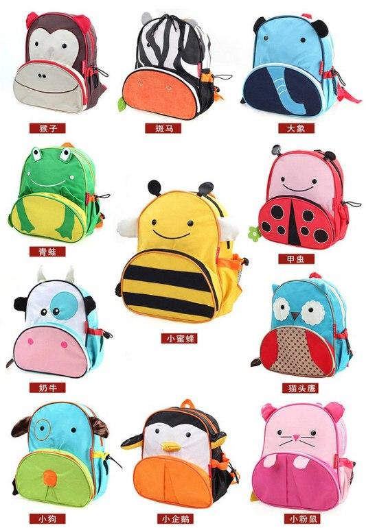 Детский рюкзак - собака 4 штуки, корова, зебра, сова, заяц