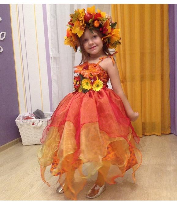 Детское платье на осенний бал своими руками 36