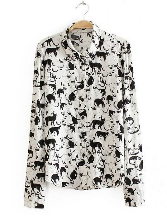 Блузка С Кошками В Новосибирске