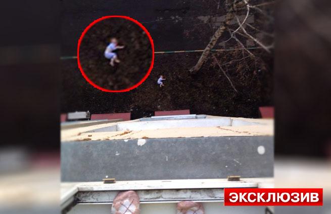 Москвичка выбросилась с сыном из окна