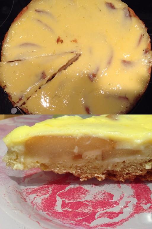 Заливной лимонный пирог