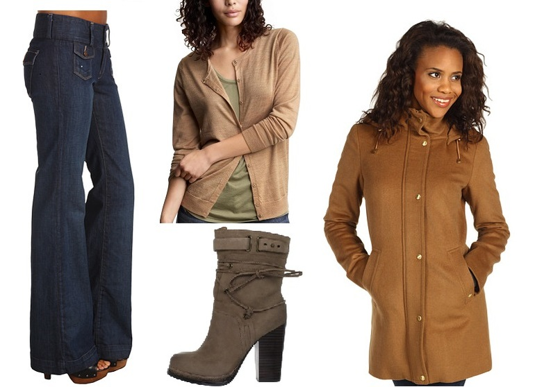 Новые джинсы Lucky Brand, кардиган GAP, пальто, ботинки