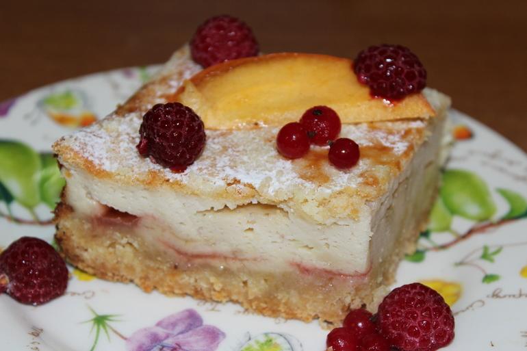 Творожный пирог с зефиром!