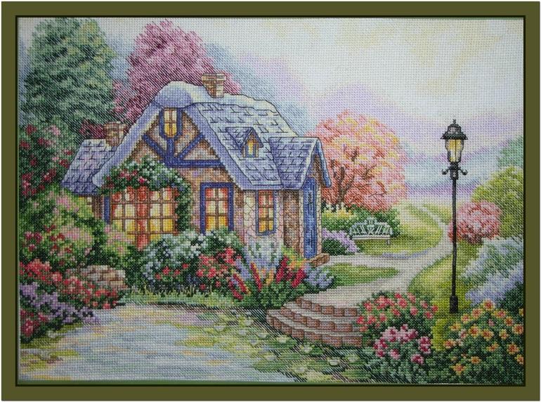 Вышивка крестом-дом милый дом
