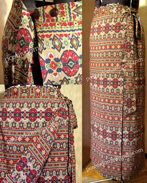 Купить юбка для храма с запахом