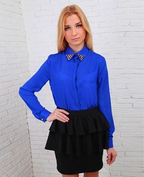 Синяя Блузка Фото