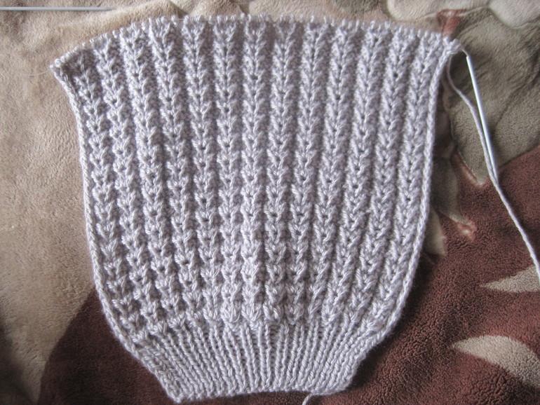 Вязание спицами: простой вафельный узор для начинающих
