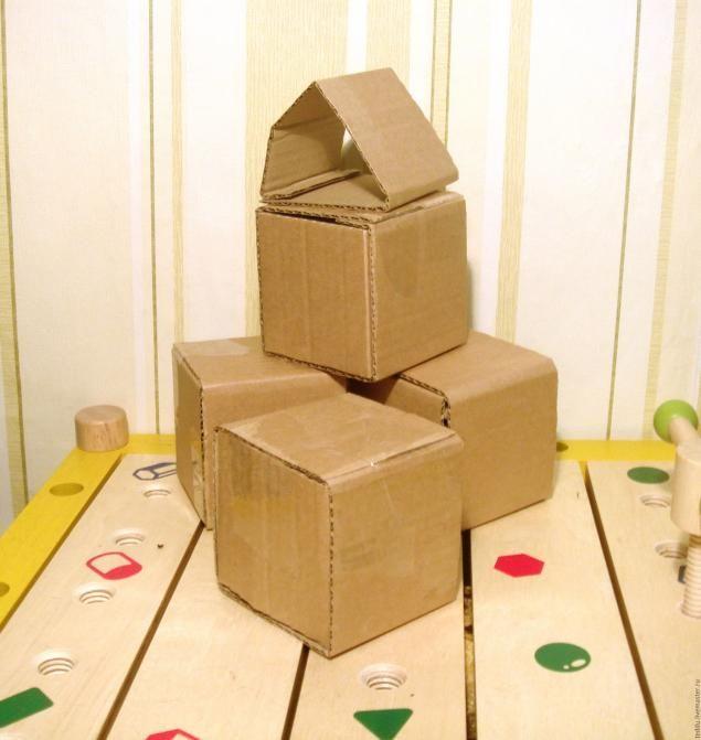 Как сделать кубик их картона