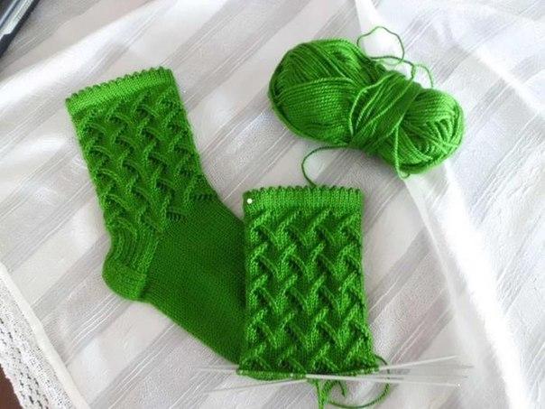 Вязание спицами красивые носки с описанием