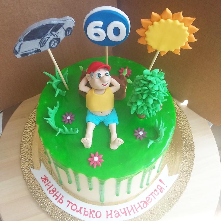Торт на 60 лет мужчине своими руками фото 30