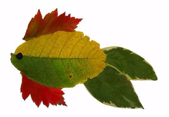 Узоры из листьев фото