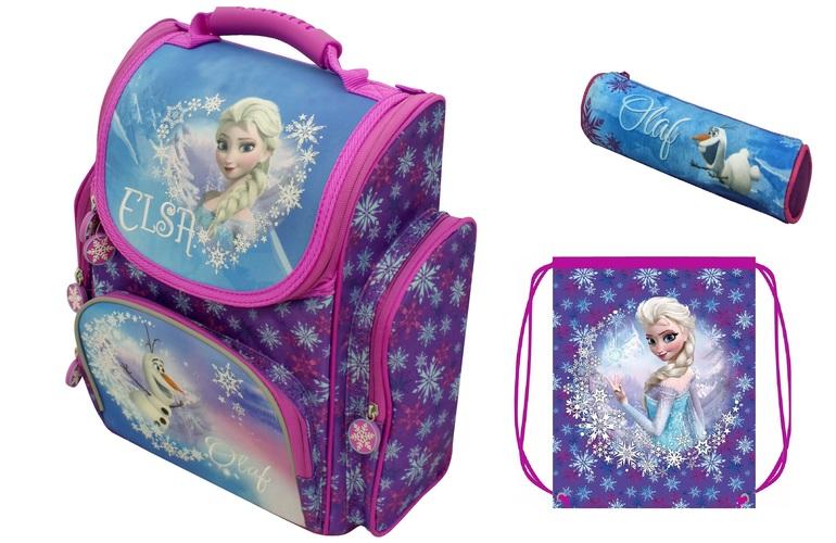ab94d77aa085 Новый ортопедический рюкзак «Disney» Холодное сердце (Frozen) с прочным  каркасом имеет основное отделение на молнии с двумя отсеками для тетрадей и  ...