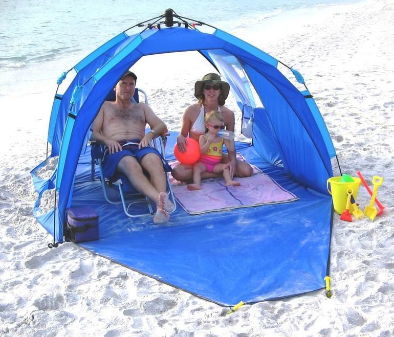 Тенты для пляжа своими руками