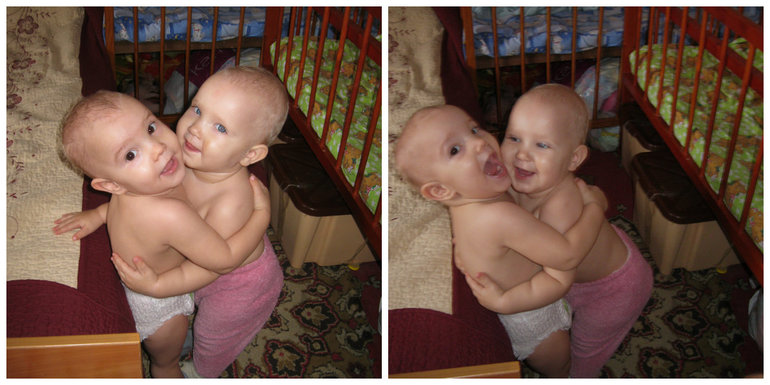 Наши первые взаимные обнимашечки)))))