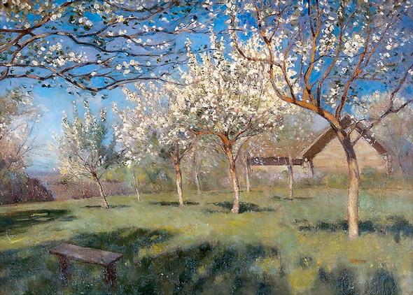 Пришла весна набухли почки стаял снег