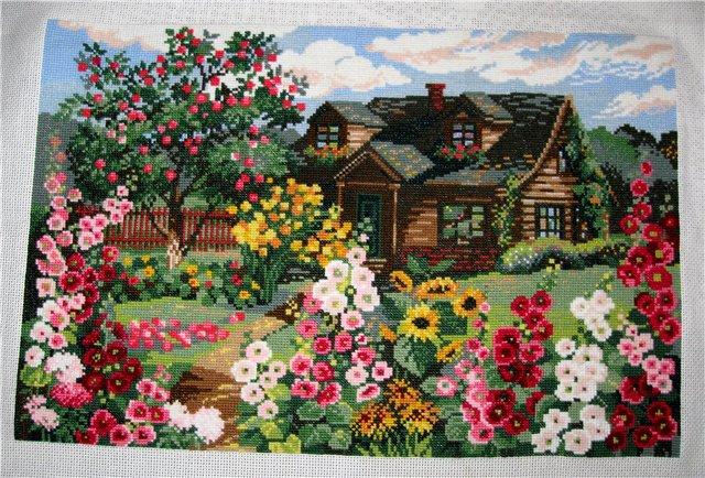 Домик в деревне вышивка набор 14