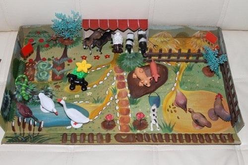 Рисунок осень деревня