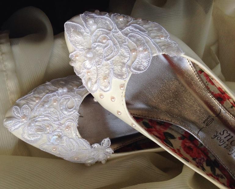 Свадебные туфли-балетки