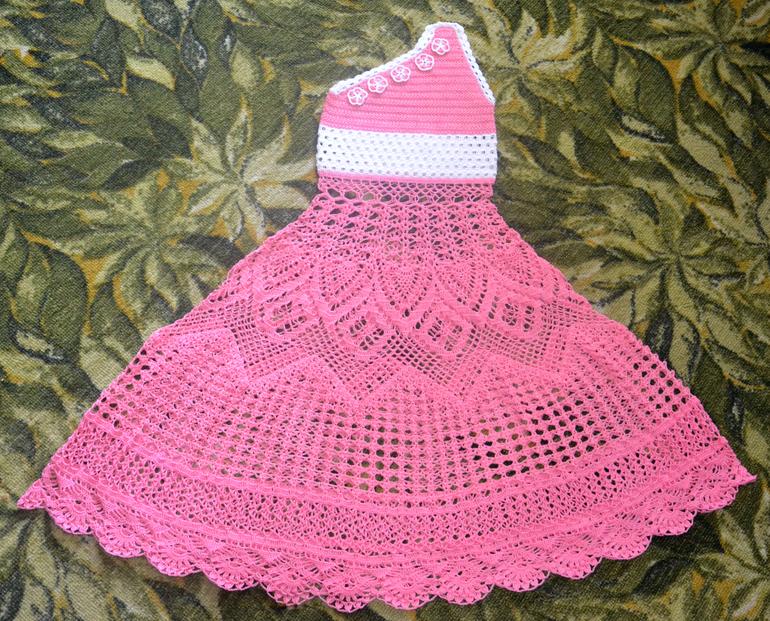 Вязание крючком платья на выпускной в детском саду 15