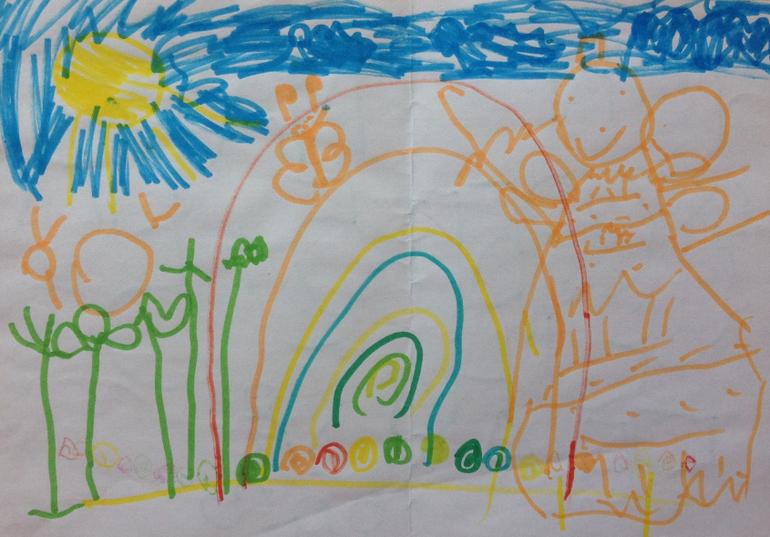Дети рисуют лунтика