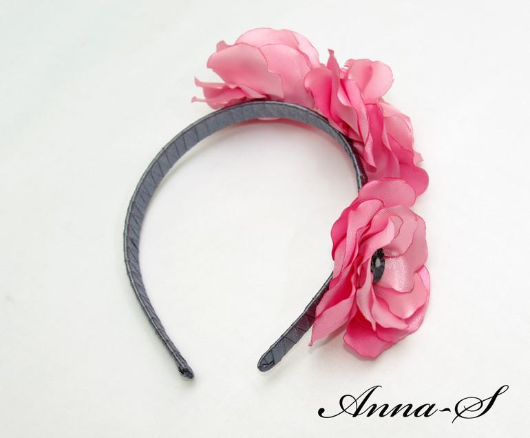 """Ободочек """" Розовые цветы """""""