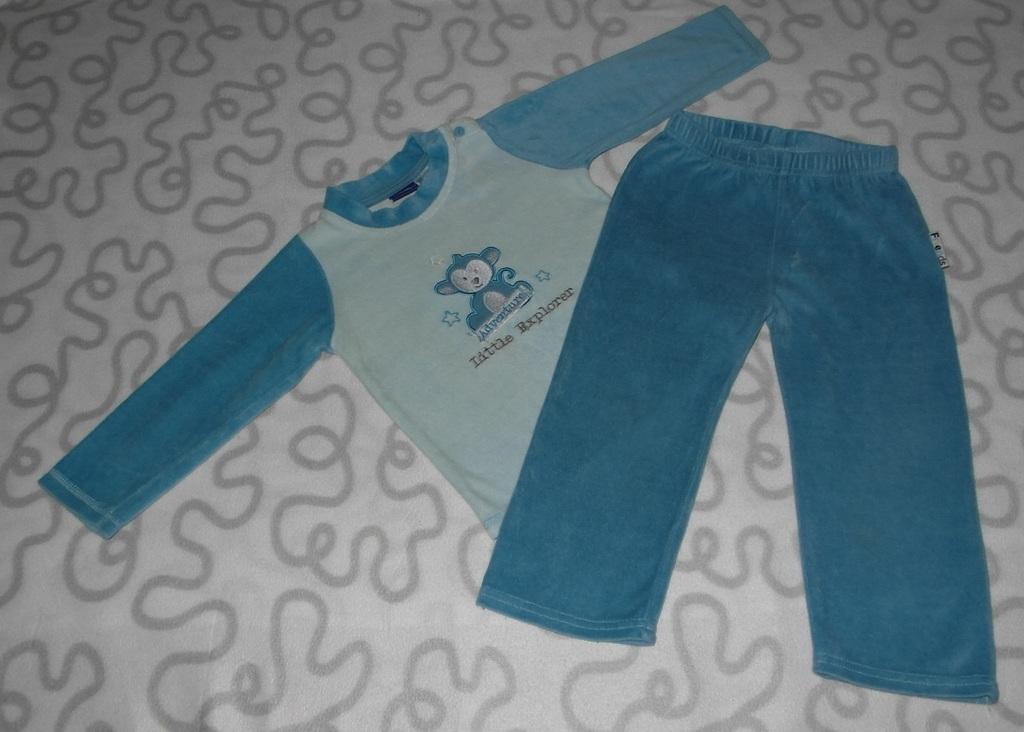 Комплект велюровый Lupilu, кофта и брюки, 12-24 ме