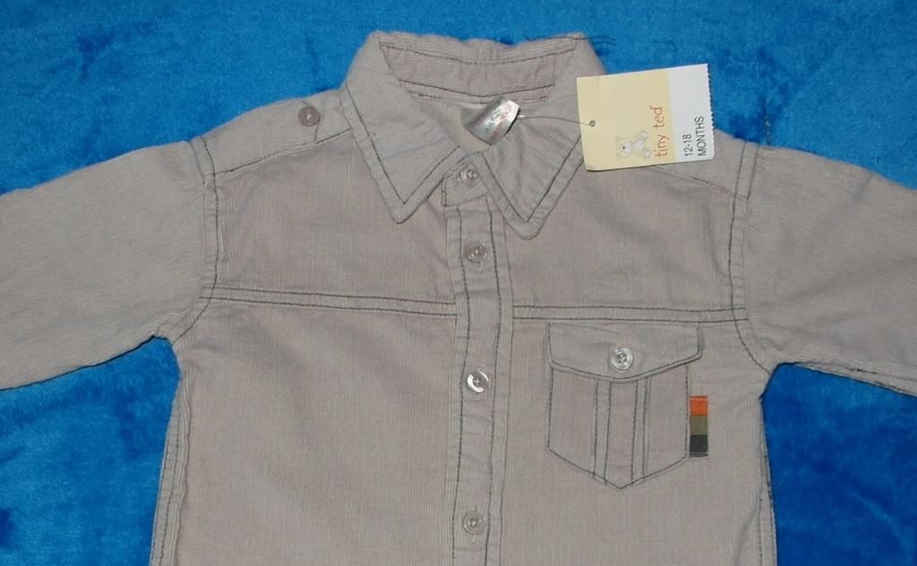 Новая рубашка вельветовая Tiny Ted, 12-18 мес.
