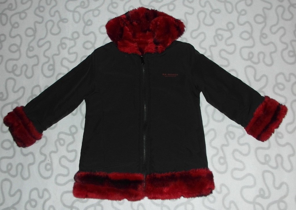 Куртка двусторонняя на девочку, еврозима, 122-128