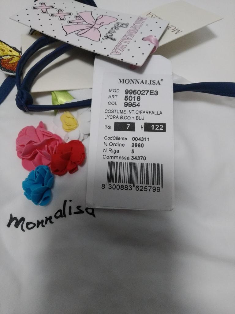 """""""MONNALISA"""" новый купальник, оригинал, р.7.."""