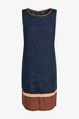 Льняное платье NEXT в стиле Колор Блок, р.50