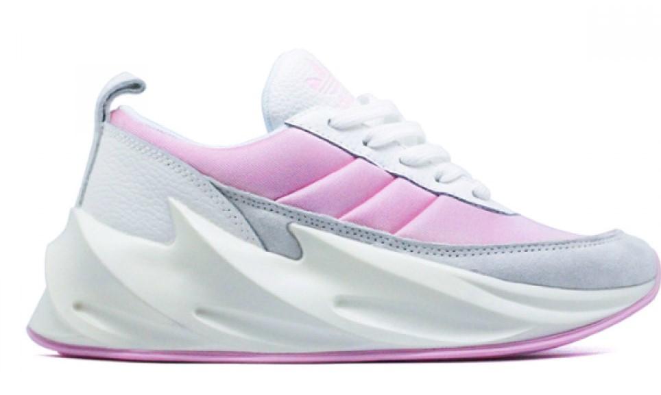 Adidas Sharks White Pink утепленные