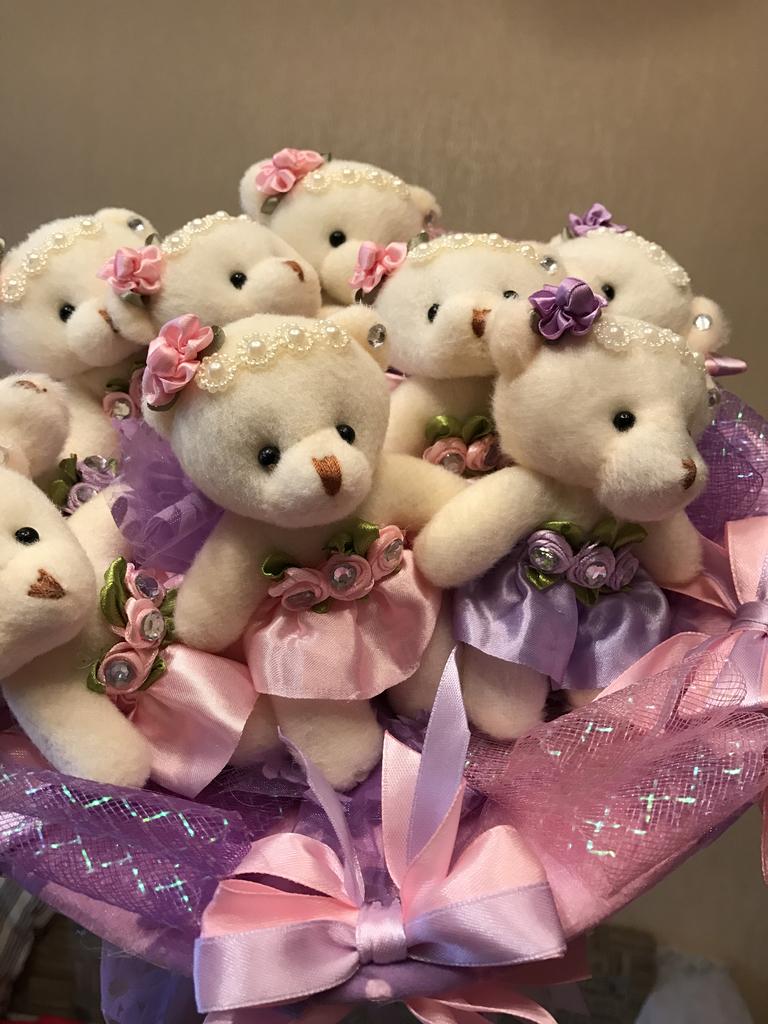 Подарок марта, букет из медвежат купить в екатеринбурге