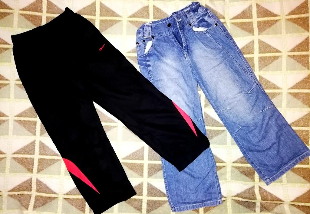 Спортивные брюки демикс и джинсы р. 122-128