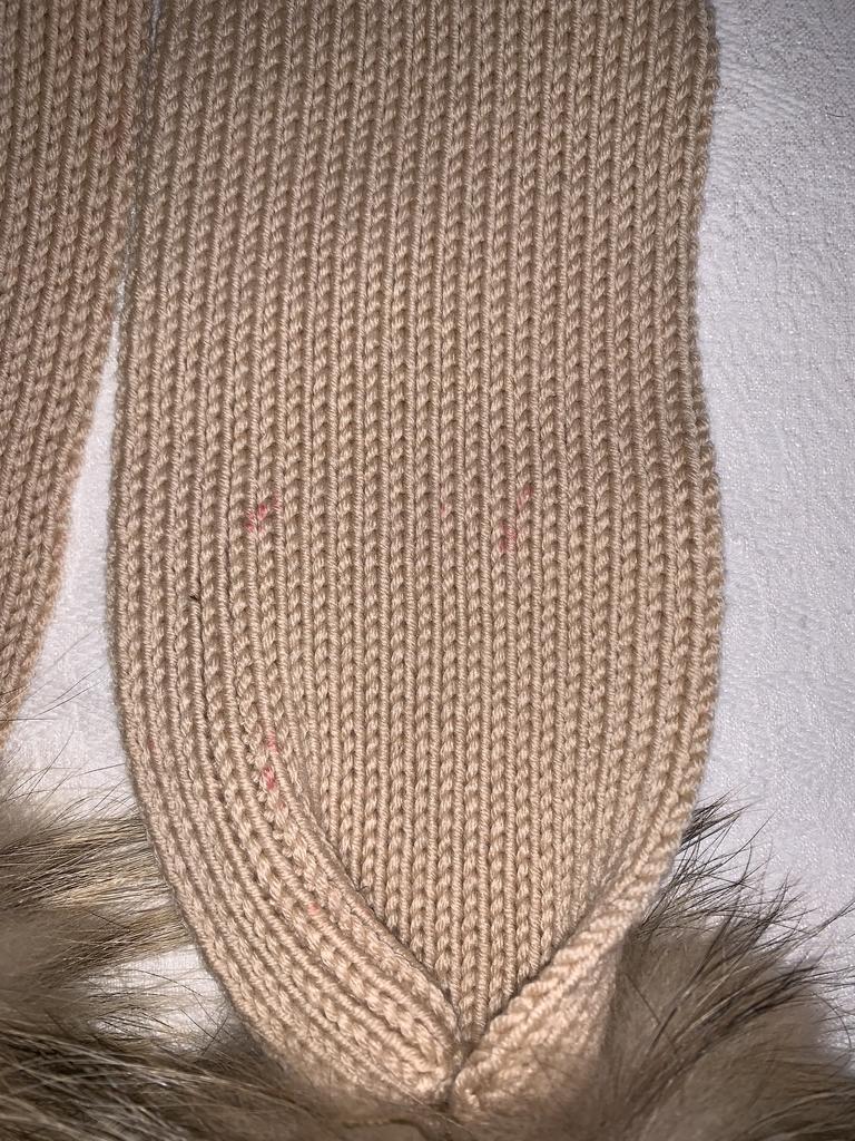 Шапка+шарф меринос ОГ 52
