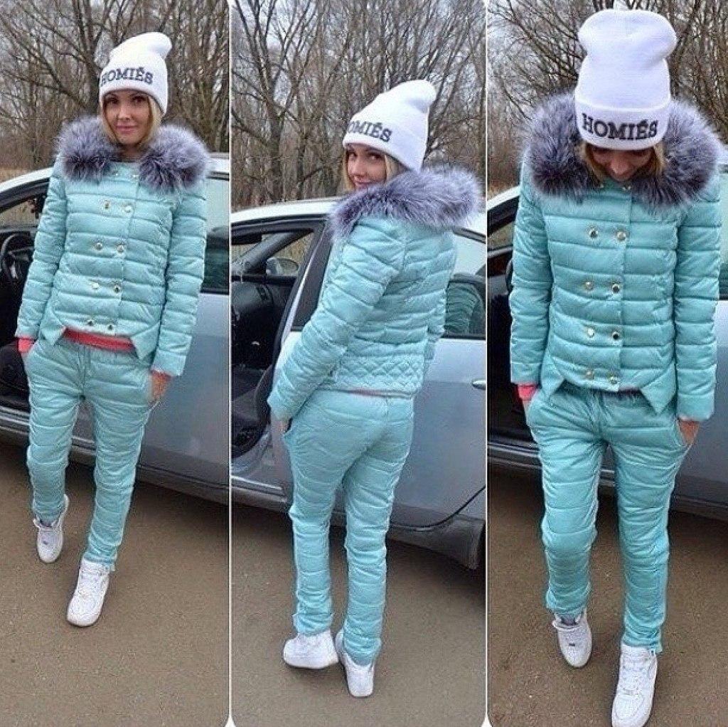 Зимние комплекты для женщин – куртка и брюки новые фото
