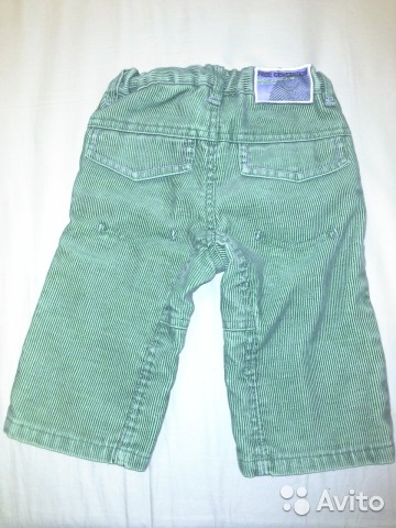 Вельветовые брюки р. 74 с подкладкой