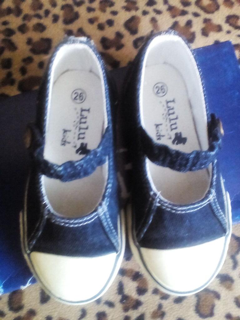 Кеды джинса р.26, 16 см Lulu kids