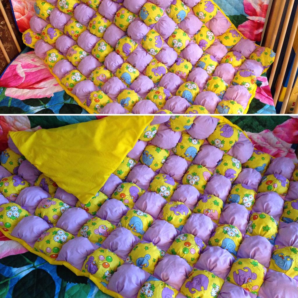 одеяло для малыша бомбончиками