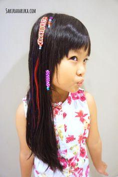 Rainbow loom-наборы плетения украшений волос.