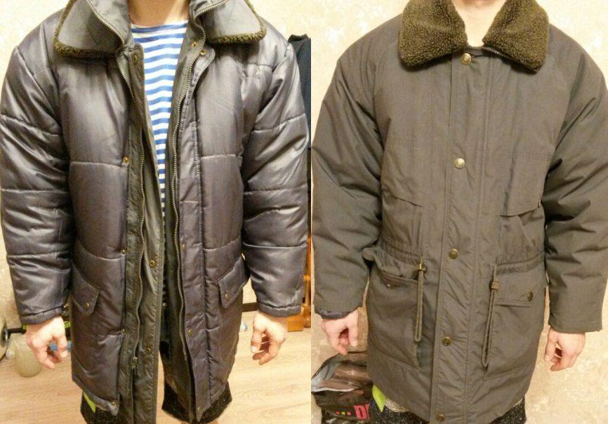 Новая зимняя двусторонняя куртка р.46