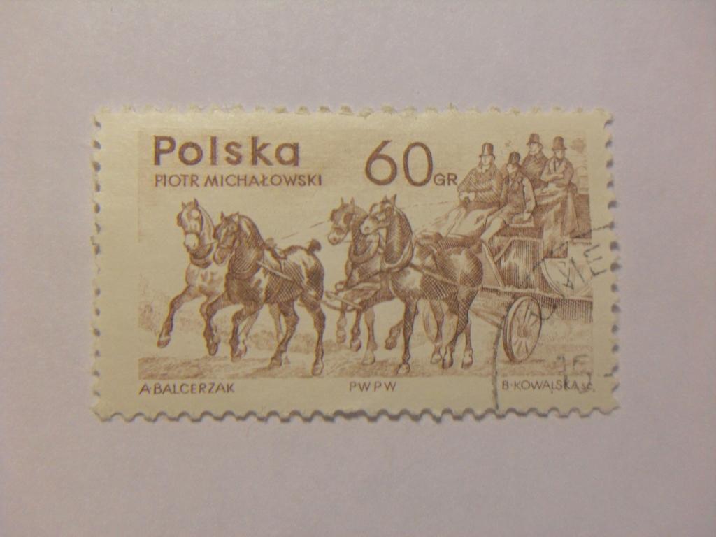 Марка 60gr 1965 год Польша Рiotr Мichalowski